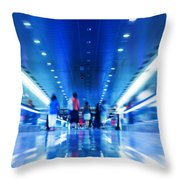 People Rush In Subway Throw Pillow