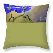 Perennial Flax Flowers Throw Pillow