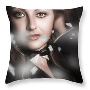 Performing Arts Woman. Romantic Stage Performance Throw Pillow