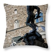 Perseus By Cellini Throw Pillow