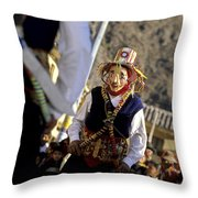 Peruvian Festival Sacred Valley Throw Pillow