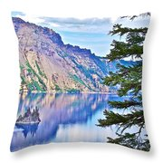 Phantom Ship Overlook In Crater Lake National Park-oregon Throw Pillow