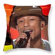 Pharrell Williams Throw Pillow