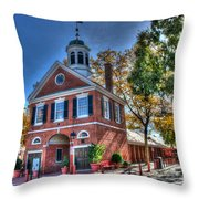 Philadelphia Head House  Throw Pillow