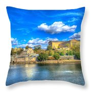 Philadelphia Water Works And Art Museum 1 Throw Pillow