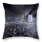 Philae Lander On Comet 67pc-g Throw Pillow