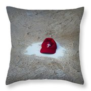 Phillies Home Plate Throw Pillow