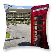 Phone Box London Throw Pillow