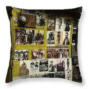 Photos Mexican Revolution Street Photographer's Shed Nogales Sonora Mexico 2003 Throw Pillow