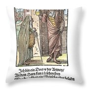 Physician, 1568 Throw Pillow