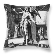 Physician As Devil Throw Pillow