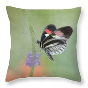 Piano Key Butterfly1 Throw Pillow