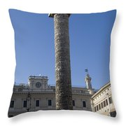 Piazza Colonnai Rome Throw Pillow