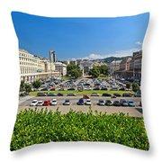 Piazza Della Vittoria - Genova Throw Pillow