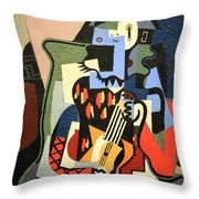 Picasso's Harlequin Musician Throw Pillow