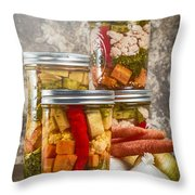 Pickled Vegetables Throw Pillow