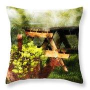 Picnic Daydream Throw Pillow