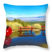 Picnic Leftover Throw Pillow