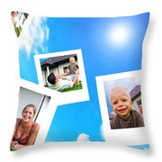 Pictures Of Happy Family Throw Pillow