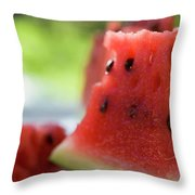 Pieces Of Watermelon Throw Pillow