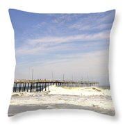 Pier At Nags Head  Throw Pillow