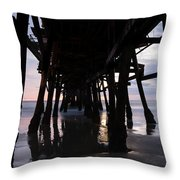 Pier In The Pacific Ocean, San Clemente Throw Pillow
