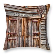 Pig And Poultry Barn Throw Pillow