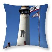 Pigeon Point Lighthouse Pescadero California Throw Pillow