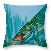 Pike And Jig Throw Pillow