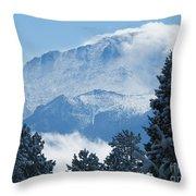 Pikes Peak Colorado Throw Pillow