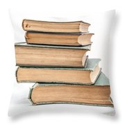 Pile Of Very Old Books Throw Pillow