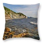 Pillar Rock In Cape Breton Highlands Np-ns Throw Pillow