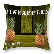 Pineapple Farm Throw Pillow