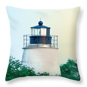 Piney Point Maryland Lighthouse Throw Pillow