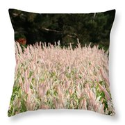 Pink Flames Throw Pillow