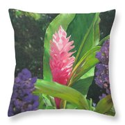 Pink Ginger Throw Pillow