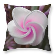 Pink Plumeria Throw Pillow