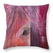 Pink Pony Throw Pillow