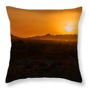 Piestewa Peak Sunset Throw Pillow