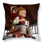 Pinocchio And Geppetto  Throw Pillow