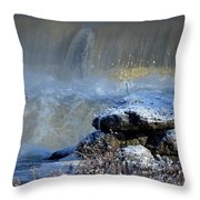 Pipe Creek Falls Throw Pillow