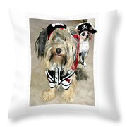 Pirate Dogs Throw Pillow