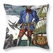 Pirate Edward England Throw Pillow