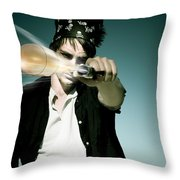 Pirate Shooing Gun Throw Pillow