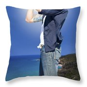 Pirate With Spyglass Throw Pillow