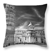 Pisa - The Leaning Tower Throw Pillow