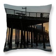 Pismo Beach Pier At Sunset, San Luis Throw Pillow