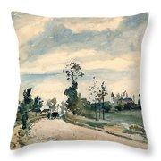 Pissarro Louveciennes Throw Pillow