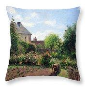Pissarro's The Artist's Garden At Eragny Throw Pillow by Cora Wandel