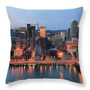 Pittsburgh At Dusk Throw Pillow